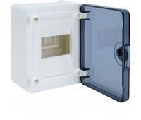 VS104TD Щит наружный   4 места, прозрачная дверца (184х138х99), Class II, IP 40 // Hager - Golf (Цвет - Белый)