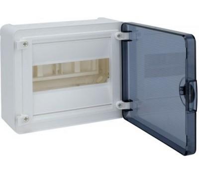 VS108TD Щит наружный   8 мест, прозрачная дверца (184х210х99), Class II, IP 40 // Hager - Golf (Цвет - Белый)
