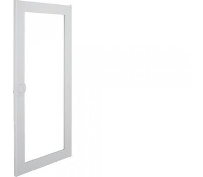 Дверь прозрачная для щитка VA48B // Hager - Volta (Метал - Белый)